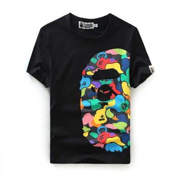 PEAPONTJ Cotton Bape Summer Print Short Sleeve T-shirts [211468582924]