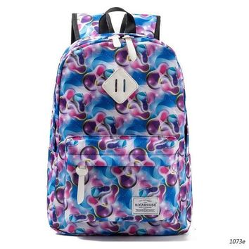 Miyahouse Fresh Style Women Backpacks Floral Print Bookbags Canvas Backpack School Bag For Girls Rucksack Female Travel Backpack