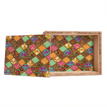 Aimee St Hill Patchwork Paisley Orange Jewelry Box
