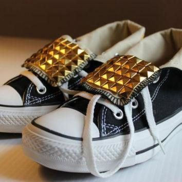 CREYON studded fold over converse all star high tops assorted men s and women s sizes and col