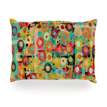 "Bri Buckley ""Gift Wrapped"" Crazy Abstract Oblong Pillow"