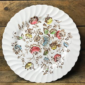 "Johnson Brothers Staffordshire Bouquet 10"" Plate Stone-on-Trent"