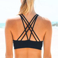 Leddy Sports Bra | Black