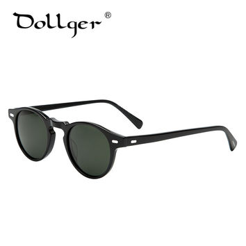 Dollger vintage sunglasses  men/women sun glasses designer  retro brand design oliver peoples Sir O'malley Oculos De Sol DG26