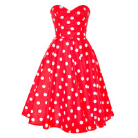 Red Polka Dot Rockabilly Swing Dress | Style Icon`s Closet