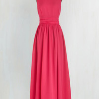 Long Sleeveless Maxi Dream Evening Dress in Carnation