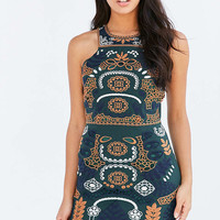 J.O.A. Embroidered Tank Dress - Urban Outfitters