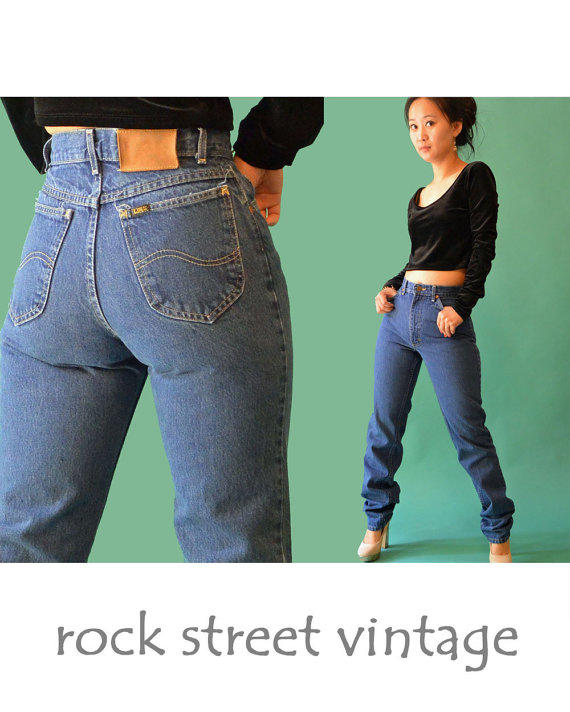 3e555f9cc650f Vintage 80s High Waisted Jeans   Dark from rockstreetvintage on