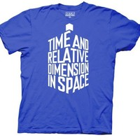 Dr Doctor Who Time And Relative Dimension T-Shirt