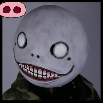 Latex Horror Blank Smiling Face Mask