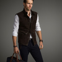 SUEDE WAISTCOAT LIMITED EDITION - The Equestrian - Leather jackets - MEN - United States of America / Estados Unidos de América