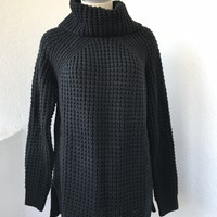 ALANNA KNIT TURTLE NECK- BLACK