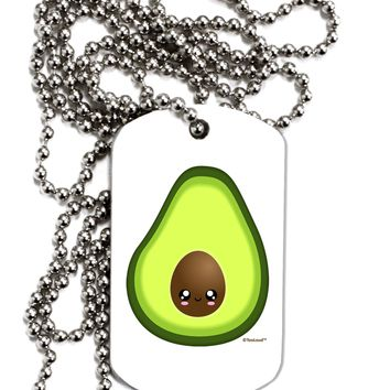 Cute Avocado Design Adult Dog Tag Chain Necklace