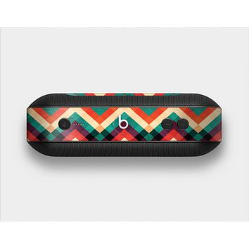 The Abstract Fall Colored Chevron Pattern Skin Set for the Beats Pill Plus
