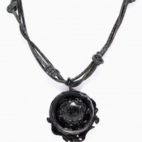 Black silver necklace from Goti collection