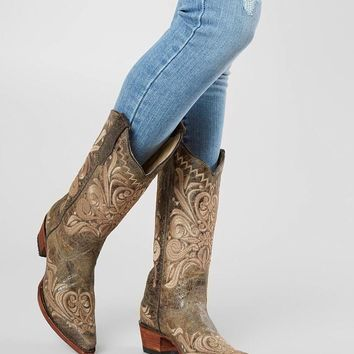 Circle G by Corral Distressed Leather Western Boot - Women's Shoes in LD Distressed Green | Buckle