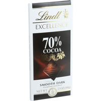 Lindt Chocolate Bar  Dark Chocolate  70 Percent Cocoa  Smooth  3.5 Oz Bars  Case Of 12