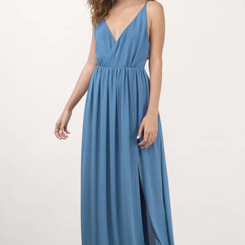 ZeZe Plunging Maxi Dress