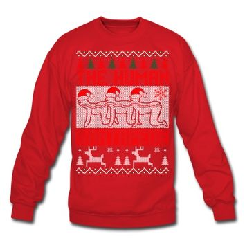 The Human Santapede Ugly Christmas Sweater Xmas Sweatshirt | Marketplace PreDesigned Products