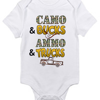 Baby Bodysuit - Camo and Bucks