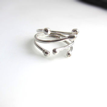 Matchstick's little sister. Adjustable silver ring