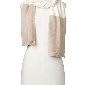 Merino wool blend colorblock scarf | Gap
