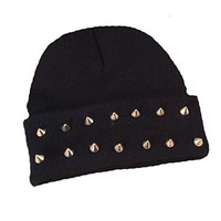 Imixlot Rock Hip-hop Studded Spike Rivet Stud Knit Beanie Hats Various Colours