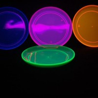 "Party Essentials Hard Plastic 9"" Round Party/Luncheon Plates, Assorted Neon, 20 Count"