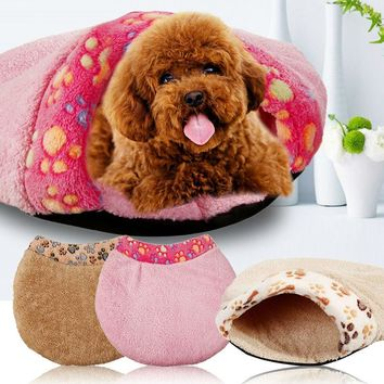 Soft Warm Cat Dog Cave Pet Bed House Puppy Sleeping Mat Pad Nest S L manta perro pet beds dog blanket
