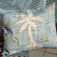 Tommy Bahama Fabric Pillow Cover Palm Tree