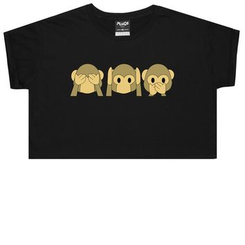 MONKEY EMOJI CROP TOP