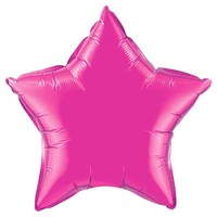 Pearl Magenta Star Balloon