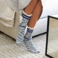 Free People Laweson Ruffle Boot Sock