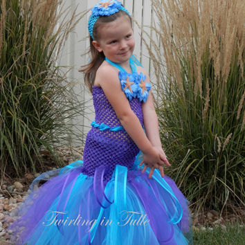 Mermaid Halloween Costume Tutu Size 2-4T