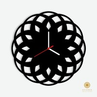 Abstract Round Diamond Wall Clock Design