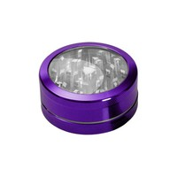 Aluminum Window Herb Grinder - 2-part - Choice of 9 colors
