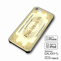 Harry Potter Platform 934 iPhone case 4/4s, 5S, 5C, 6, 6 +, Samsung Galaxy case S3, S4, S5, Galaxy Note Case 2,3,4, iPod Touch case 4th, 5th, HTC One Case M7/M8