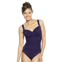 Croft & Barrow Fit For You Tummy Slimmer One-Piece Swimsuit