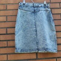 Vintage Jean Skirt, Women's Jean Skirt, Women's Denim Skirt, Vintage Denim Skirt