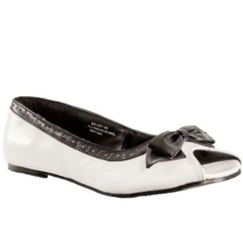 Daisy 64 White Open Toe Flats