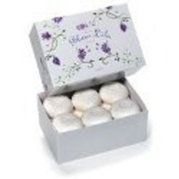 Blanc Lila Petite (White Lilac Fragrance) 12 Bath Guest Soap Bars-Gift Boxed