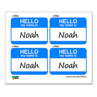 Noah Hello My Name Is - Sheet of 4 Stickers