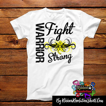 Sarcoma Warrior Fight Strong Shirts (Endometriosis, Ewing Sarcoma, Spina Bifida)