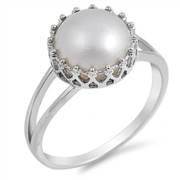 Freshwater Pearl and Sterling Silver Ring