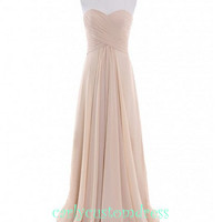 Champagne Long Chiffon Bridesmaid Dress Cheap Mint Coral Peach Red Grey Black Prom/Homecoming/Party/Coc­ktail Dress Wedding Party Dress 2014