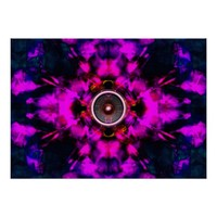 Purple kaleidoscope music speakers poster