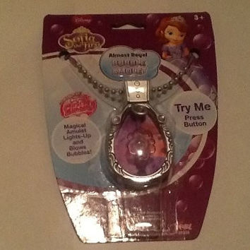 Disney Sofia the First Almost Royal Bubble Amulet Princess Necklace