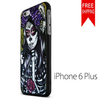 Floral Sugar Skull Day of the Dead US iPhone 6 Plus Case