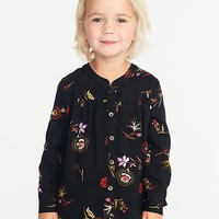 Floral-Print Tunic for Toddler Girls|old-navy