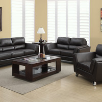 Sofa - Dark Brown Bonded Leather